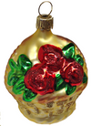 Basket of Roses Ornament by Hausdorfer Glas Manufaktur