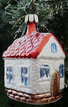 Small House Ornament by Hausdorfer Glas Manufaktur