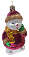 Sleepy Snowman Ornament by Hausdorfer Glas Manufaktur