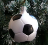 Soccer Ball Ornament by Hausdorfer Glas Manufaktur