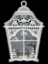 Large Lace Lantern with bench and birds