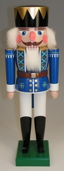 Blue and White King Nutcracker by Werkstatte Volker Füchtner