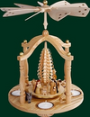 Tealight Gazebo Nativity Pyramid by Erzgebirgische Volkskunst Richard Glasser GmbH