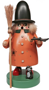 Wizard with Broom Smoker by Erzgebirgische Volkskunst Richard Glasser GmbH