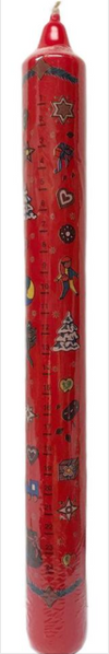 Red Advent Countdown to Advent Candle, Wide by Jeka Herzen GmbH