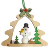 Tree ornament with snowman