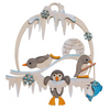 DIY-Kit window deco. penguin