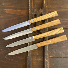 Opinel Set of 4 Table Knives - Olivewood