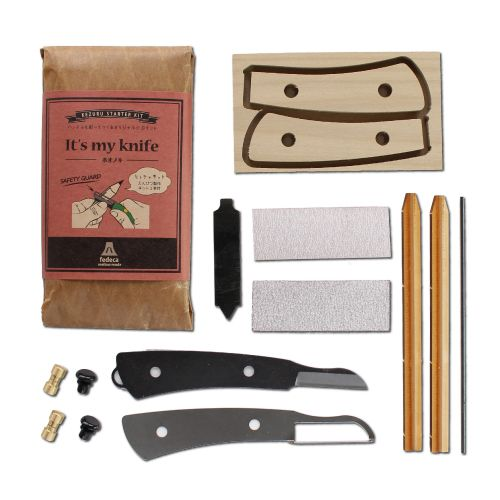 It's My Knife Magnolia Wood Kit with Safety Guard with Pencil