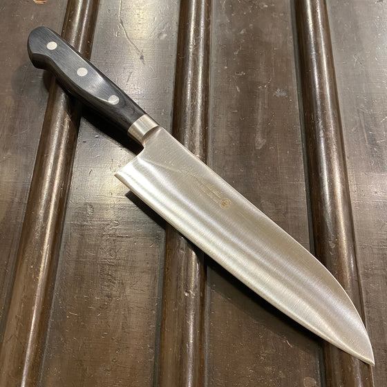 Masakane 180mm Santoku SK Carbon Steel Pakka Handle New Old Stock