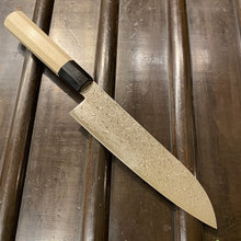 Hitohira HG 185mm Santoku Stainless Damascus Wa Handle