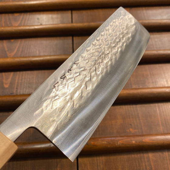 Hitohira TD 165mm Nakiri SLD Tsuchime Walnut Handle