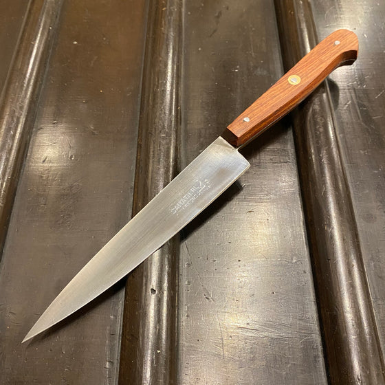 "K Sabatier New Old Stock 5.5"" Plate-Semelle Office Knife Hand Forged Carbon Steel Rosewood Handle"