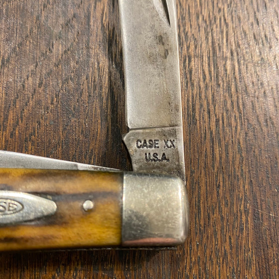 "Case XX 4 5/16"" Large Stockman 5375 Carbon Blades Stag Scales 1965-70"
