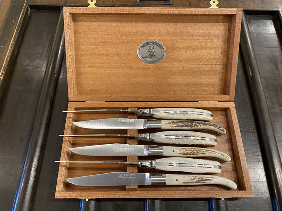 Fontenille Pataud 'Laguiole Steak' - Stag - Set of 6