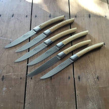 R. Chazeau 'Le Thiers' Steak set of 6 Bolstered Boxwood
