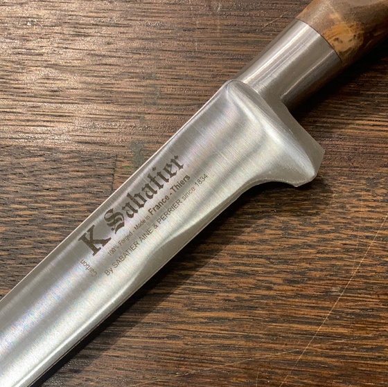 "K Sabatier 5"" Boning 'Authentique' Carbon Steel - Olive Handle"