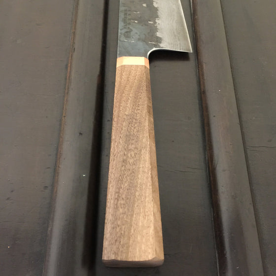 Blenheim Forge 180mm Bunka Iron Clad Aogami Super Walnut & Copper
