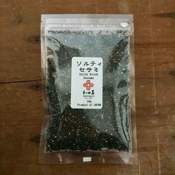 Wadaman Salty Roasted Black Sesame Seeds - 50g