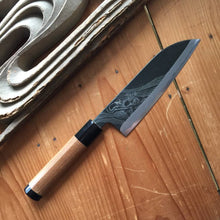 Tsukasa Hinoura 'River Jump' 165mm Wa-Santoku Enju Handle