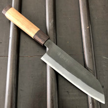Tagai Sanjo 165mm Santoku Stainless Clad Shiro 2 Hinoura & Hosokawa -Oak / Wenge Handle