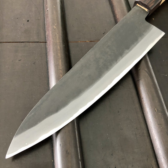 Tagai Sanjo 210mm Gyuto Stainless Clad Shiro 2 - Hinoura & Hosokawa - Oak / Wenge Handle