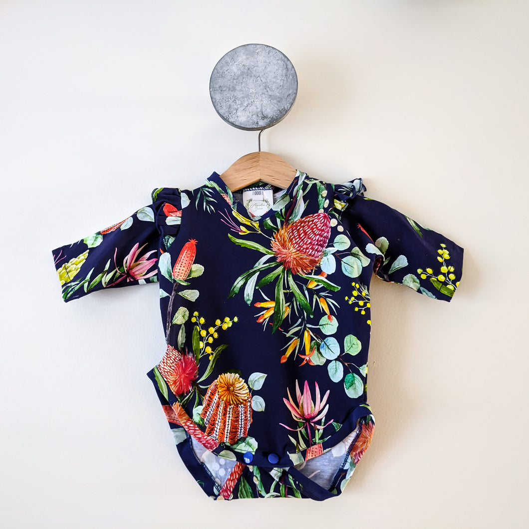 Bodysuit with flutters - Banksia