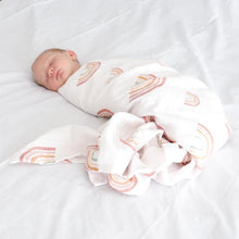 Load image into Gallery viewer, Double Cotton Muslin Swaddle Wrap - Aurora Skies