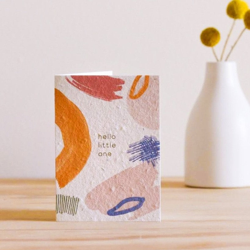 Hello Little One | Plantable Seed Card