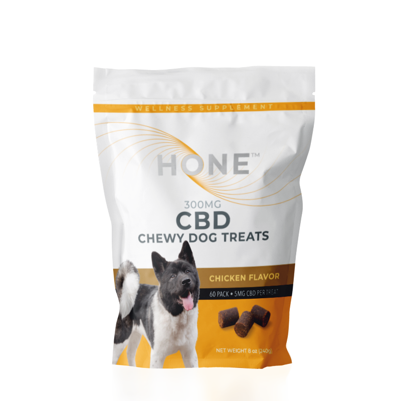 Hone Chicken Flavored 300mg CBD Dog Treats