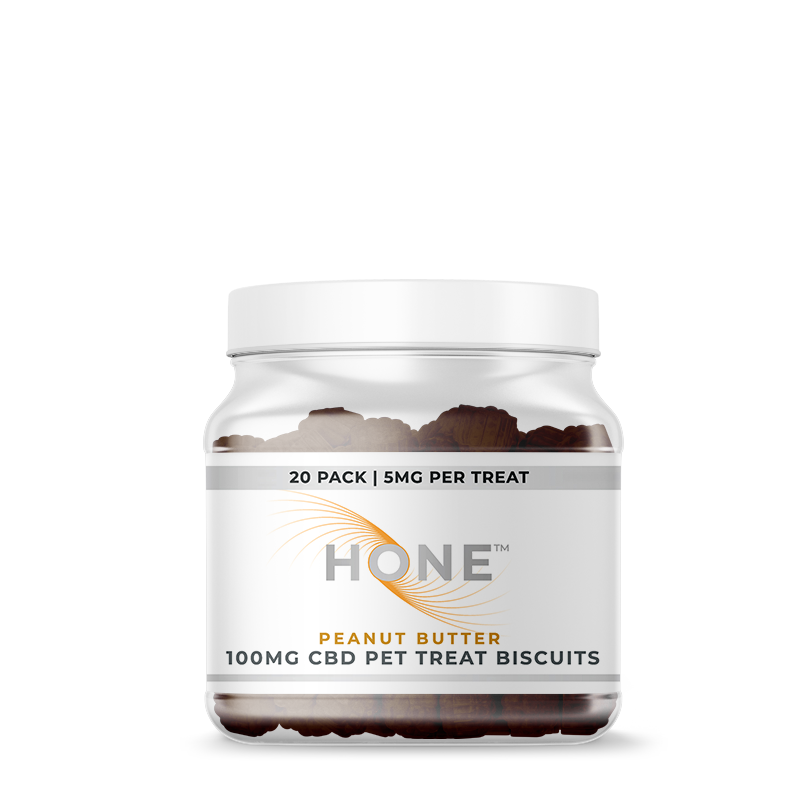Hone Peanut Butter 100mg CBD Dog Biscuits