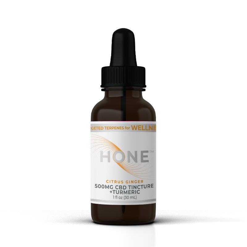 Hone Citrus Ginger 500mg CBD Oil for Wellness