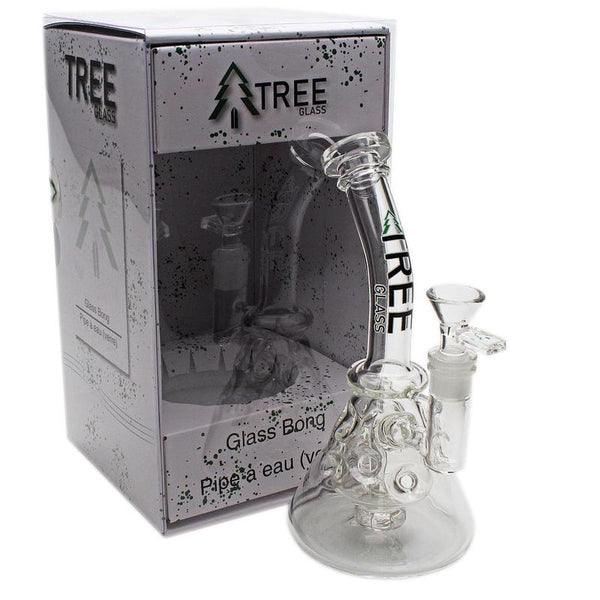 "Tree Glass 10"" Faberge Perc Beaker Bubbler"