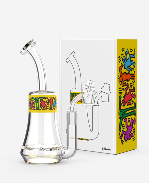 K.Haring Yellow Design Dab Rig