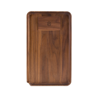 Marley Natural Black Walnut Small Rolling Tray