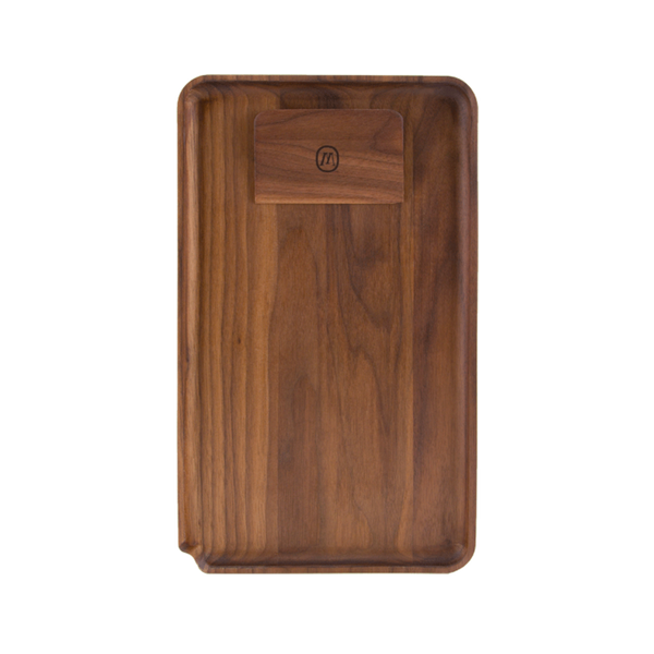 Marley Natural Black Walnut Large Rolling Tray