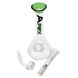 "Apex 7"" Mini Rig Glass Beaker with Banger"