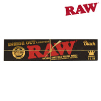 RAW Black Inside Out King Size Slim Rolling Papers Box of 50