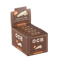 OCB Unbleached Filter Tips Booklets Box of 25
