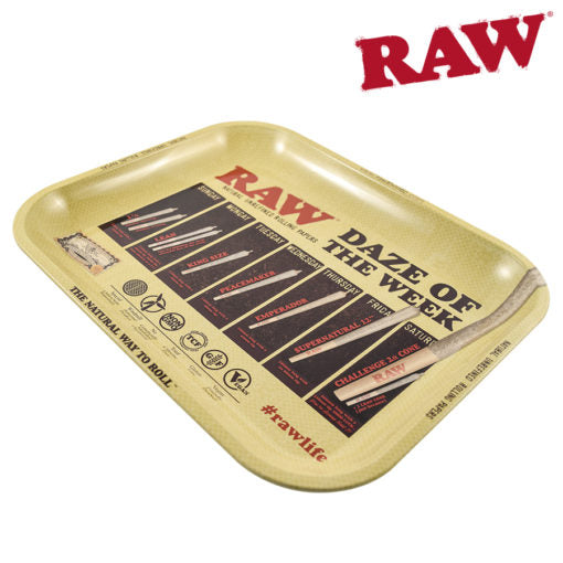 RAW Daze of the Week Large Rolling Tray