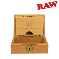 RAW NatuRAWl Lockable Teakwood Smoker's Box