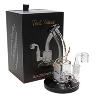 "Tech Tubes 6"" Can Bent Neck Quad Inline Dab Rig"