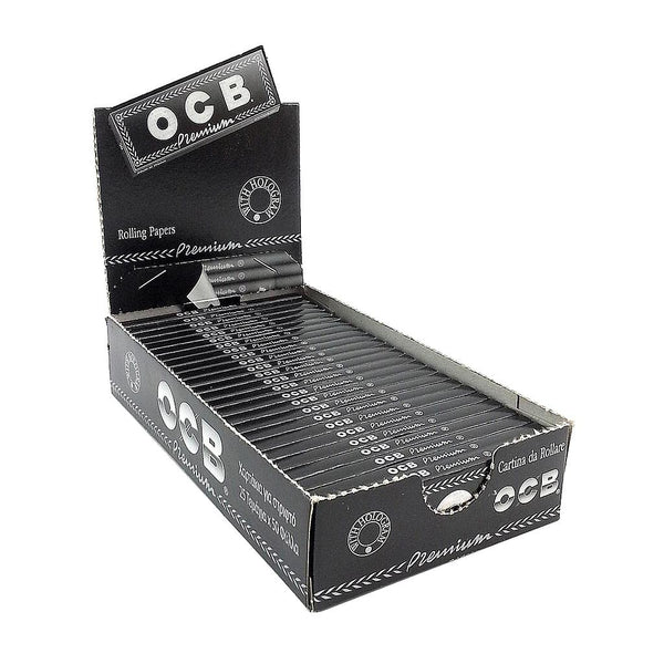 OCB Black Premium Rolling Papers 1.25 Box of 25