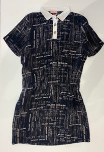Newsprint Dress D37636