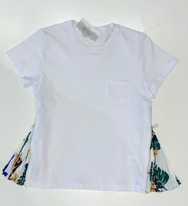 Side Pleat T- Shirt 8187
