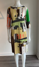 Load image into Gallery viewer, Geometric Print Jersey Dress K632