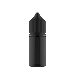 Chubby Gorilla Chubby Gorilla - 30ML Stubby Unicorn Bottle - Transparent Black Bottle / Black Cap - V3