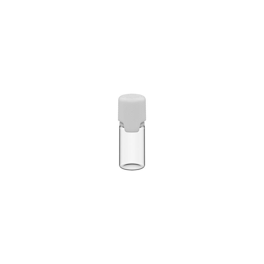 Chubby Gorilla Aviator 10ML Bottle With Inner Seal & Tamper Evident Breakoff Band - Clear Natural Bottle / Opaque White Cap
