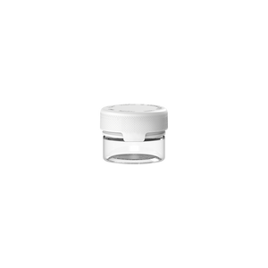 30CC/1FL.OZ/30ML Aviator CR - Container With Inner Seal & Tamper - Clear Natural With Opaque White Lid - Copackr.com