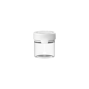 60CC/2FL.OZ/60ML Aviator CR - Container With Inner Seal & Tamper - Clear Natural With Opaque White Lid - Copackr.com